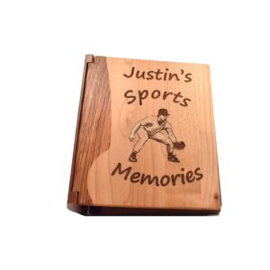Personalized wooden photo album.