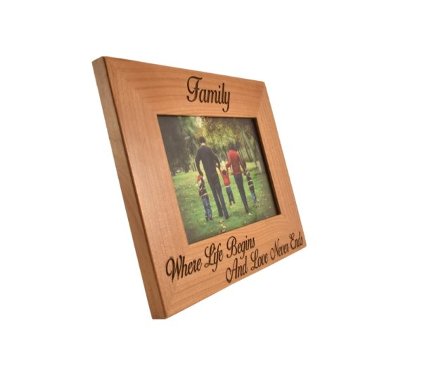 Personalized picture frame.