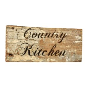 Reclaimed barnwood sign.