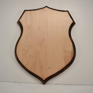 Shield taxidermy plaque.