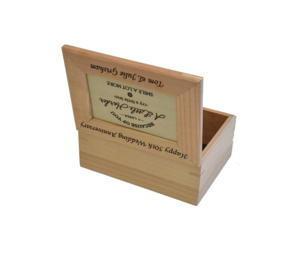 Wedding Anniversary keepsake box.
