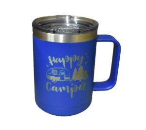 Custom engraved travel coffee mug.