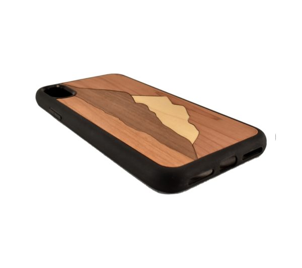 Custom engraved wooden phone case for the iPhone X.