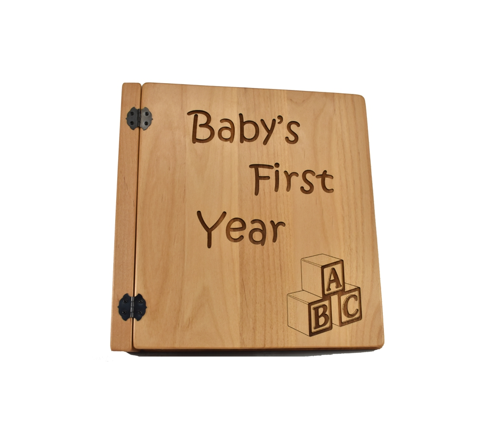 Baby's First Year Blocks Personalized Photo Album- 3 Ring